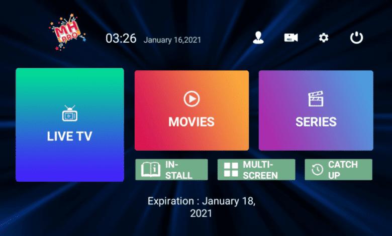 MH Pro Premium IPTV APK With full Activation